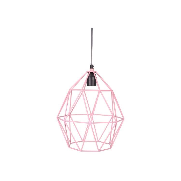 Wire lampa rosa