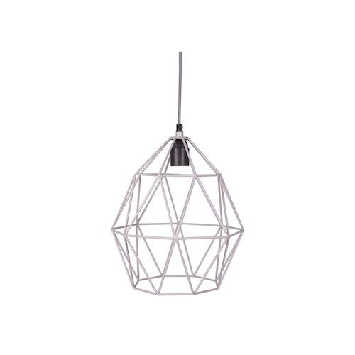 Wire lampa grå