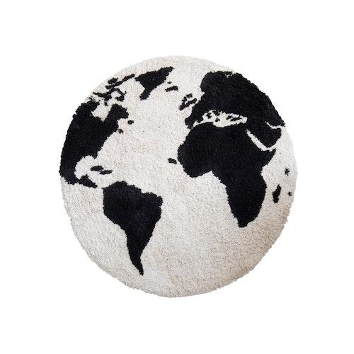 Matta med världskarta