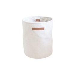 Säck stor melange vit/beige