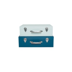 Koffert blå
