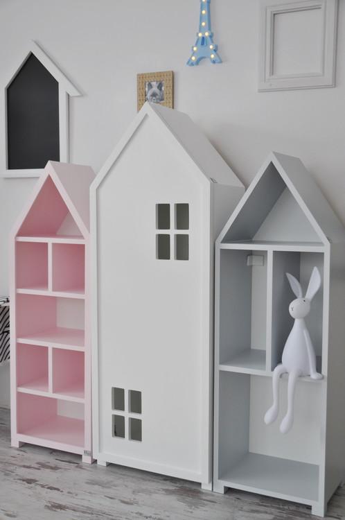 Mini city bokhylla med dörr vit