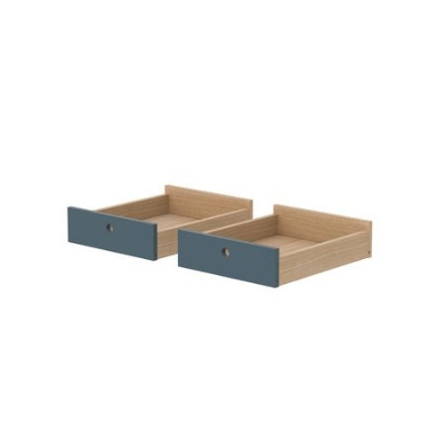Lådor till skrivbord, 2 st blå
