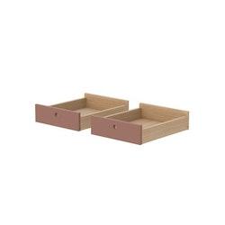 Lådor till skrivbord, 2 st rosa