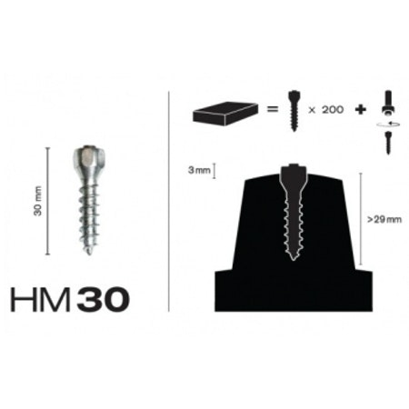 MaxiGrip Skruvdubb HM30