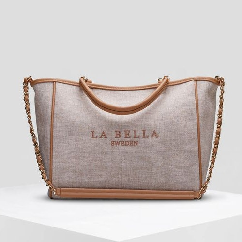 La Bella Sweden  natur beige multifunction tote bag