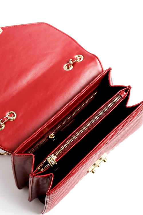 La Bella Sweden red spider shoulder bag