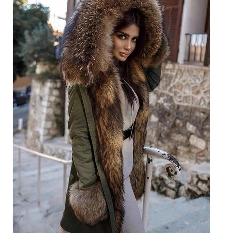 French  fur parka