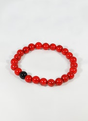 Beads Red Black