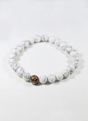 Beads White Brown