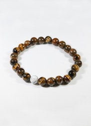 Beads Brown White