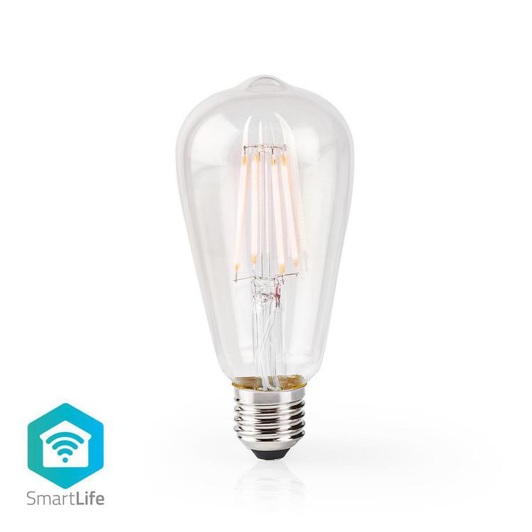 Splitter nya Nedis Wi-Fi Smart LED-lampa | E27 | ST64 | 5 W | E500 lm FP-52