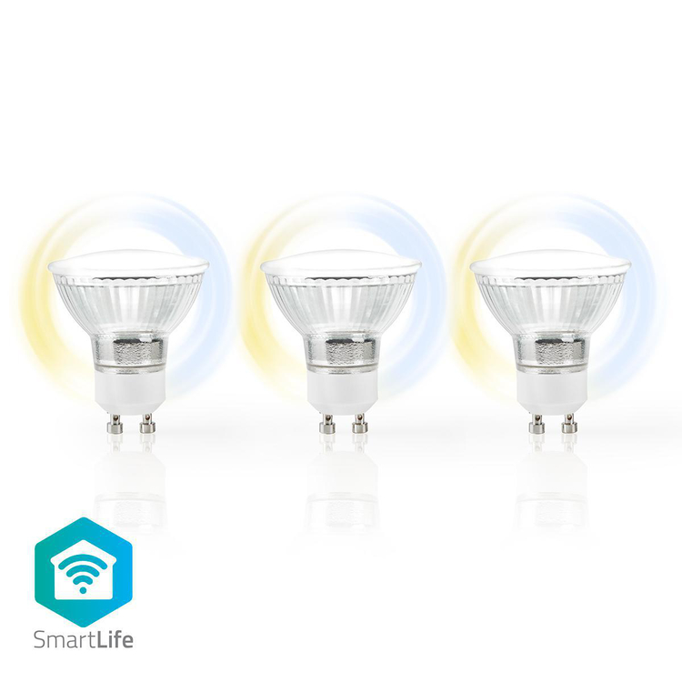 Wi Fi Smart LED lampa | Varmvit | GU10 Wingblad Teknik