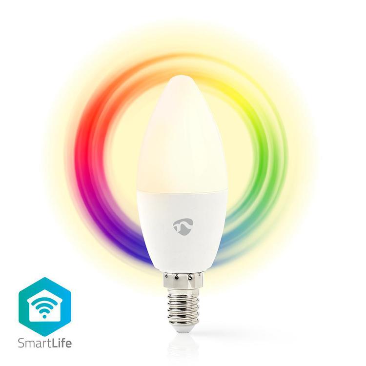 Nya WiFi Smart LED-lampa | Fullfärg och varmvitt | E14 - Wingblad Teknik HD-68