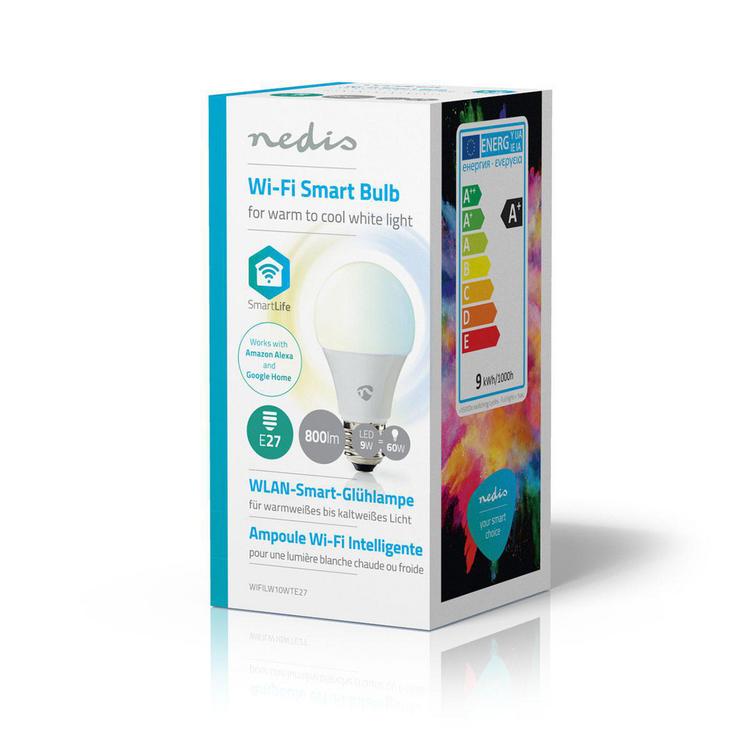 WiFi Smart LED lampa | Varmt till kallt vitt | E27 | BoIQ