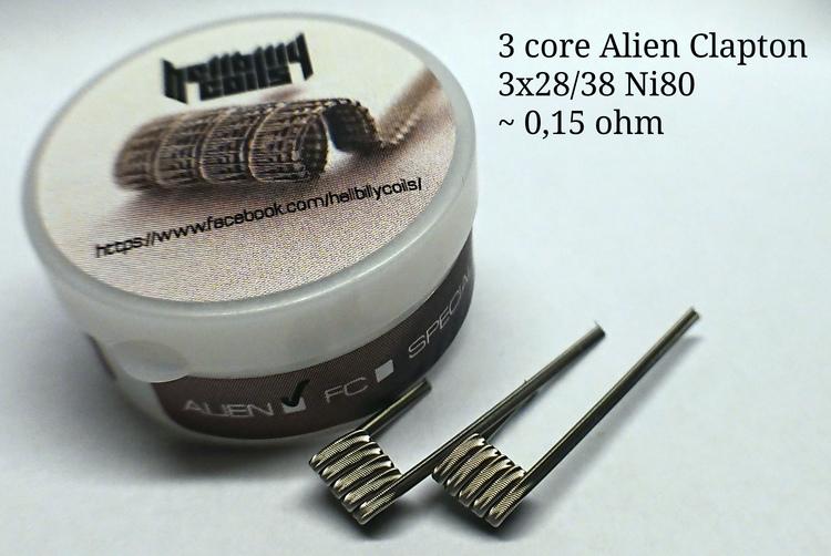 Hellbilly Coils - 3 Core Alien (0.15 ohm)