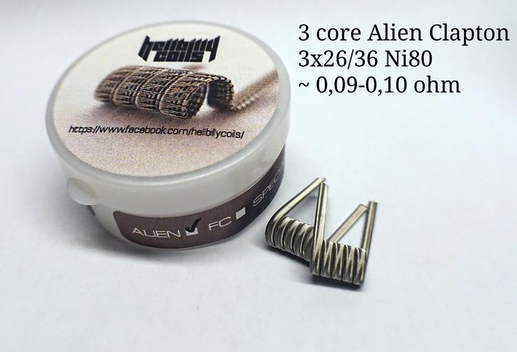 Hellbilly Coils - 3 Core Alien (0.09-0.10 ohm)
