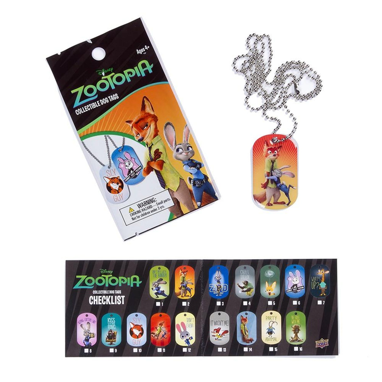 Zootopia Collectible Dog Tags (Upper Deck 2016)