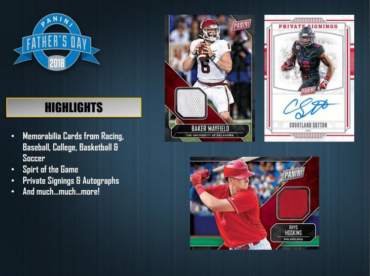 2018 Panini Father's Day Pack