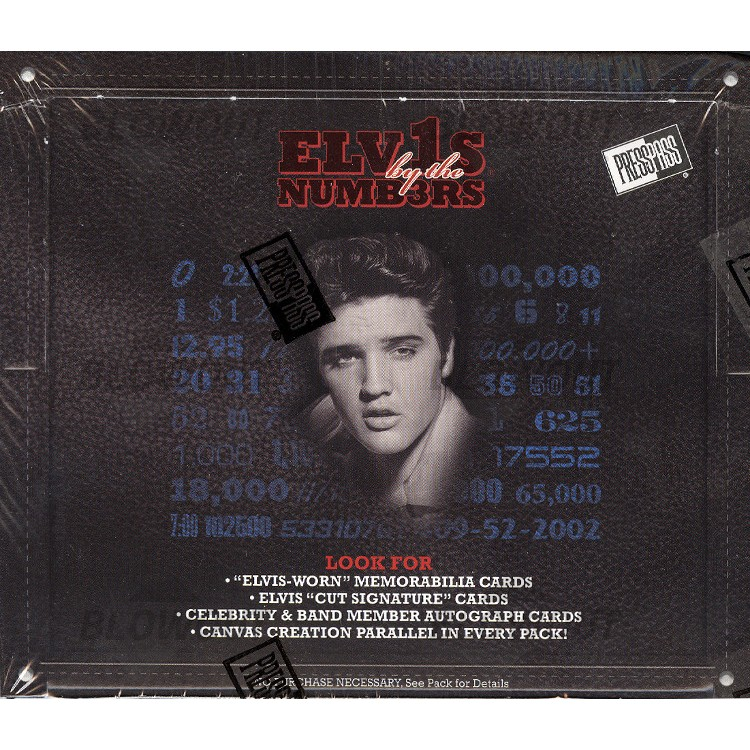 2008 Press Pass Elvis By The Numbers