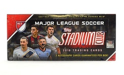 2018 Topps Stadium Club MLS Soccer (Hobby Box)