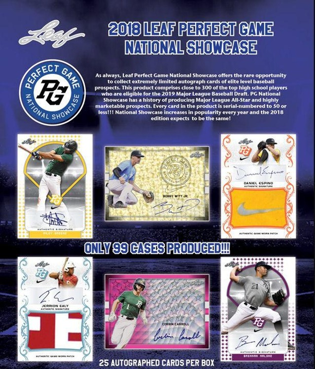 2018 Leaf Perfect Game National Showcase Baseball (Hobby Box)