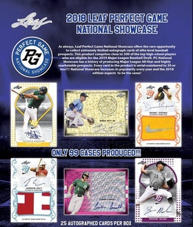 2018 Leaf Perfect Game National Showcase Baseball (Hobby Box)