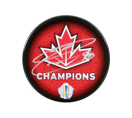 Ryan O'Reilly Autographed Team Canada World Cup Hockey Puck