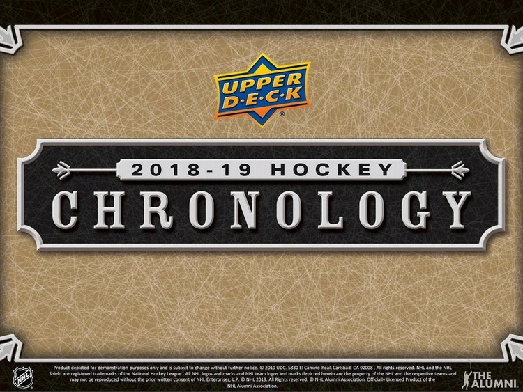 2018-19 Upper Deck Chronology *FÖRKÖP, RELEASE MAJ*