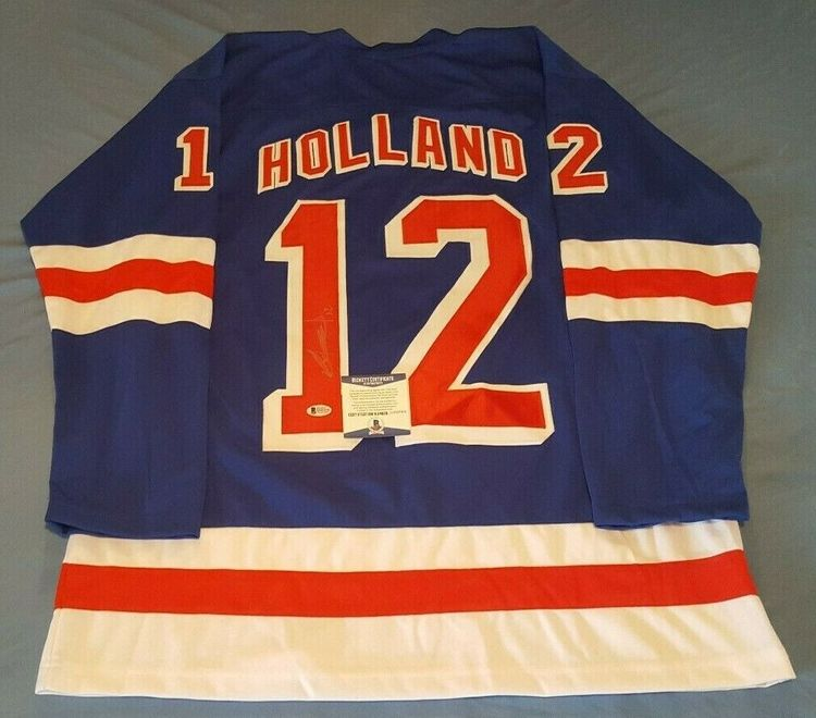 PETER HOLLAND - NEW YORK RANGERS SIGNERAD TRÖJA MED COA
