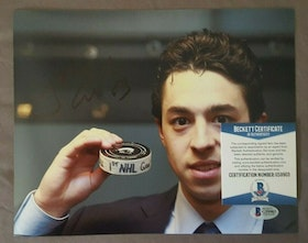 Johnny Gaudreau Signed auto 8x10 (BECKETT COA)