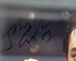 Johnny Gaudreau Signed auto 8x10 (BECKETT COA)