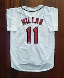 Felix Millan Autographed Jersey Cleveland Indians JSA