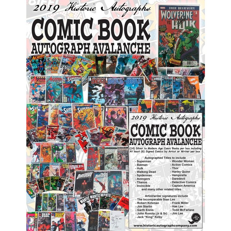 2019 Historic Autographs Comic Book (Autographs)