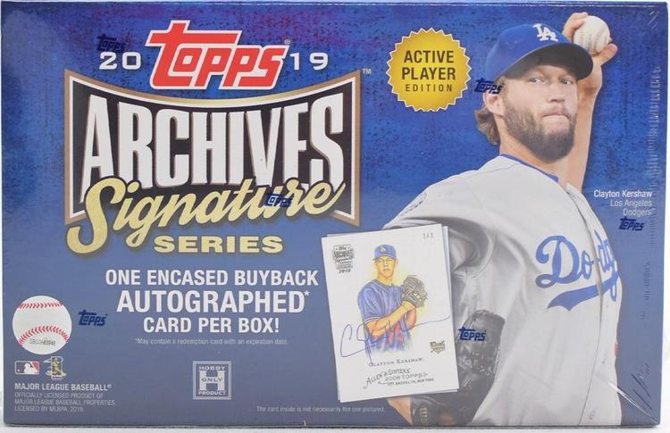 2019 Topps Archives Signature Series Baseball (Hobby Box)