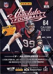 2016 Panini Absolute Football (8-Pack Box)