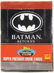 Batman Returns Hobby Box (1992 Topps Stadium Club)