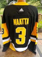 OLLI MAATTA SIGNED AUTHENTIC BLACK PITTSBURGH PENGUINS JERSEY COA JSA ADIDAS