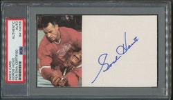 Gordie Howe Signed Index Card PSA/DNA Certified Autograph