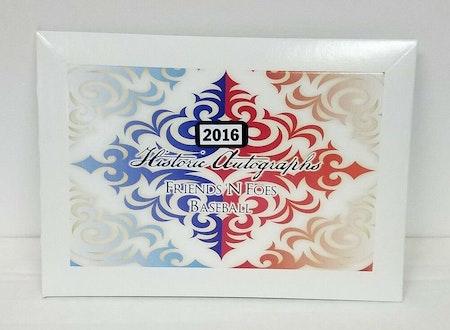 2016 Historic Autographs Friends N Foes Holiday Baseball Edition Box