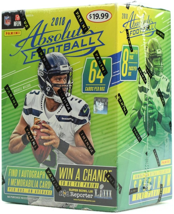 2018 Panini Absolute Football (8-Pack Blaster Box)