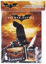 Batman Begins Sticker Album with 10 Sticker Packs!