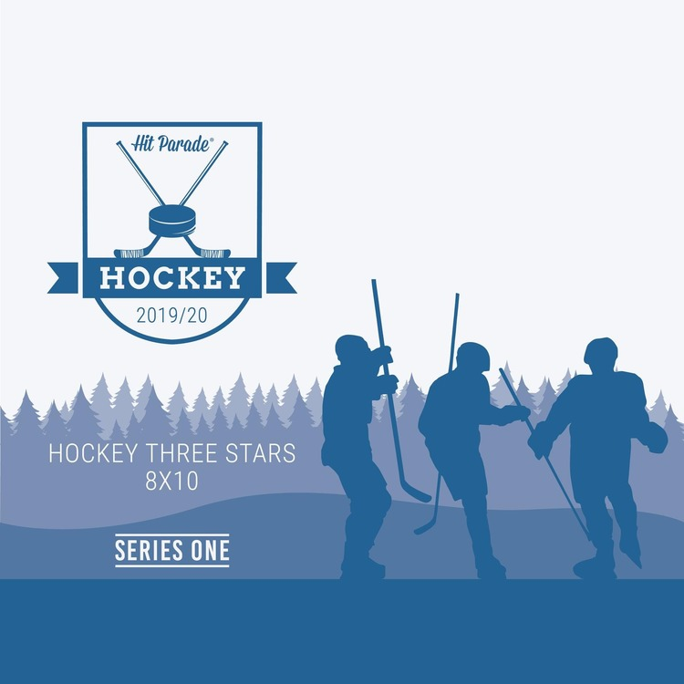 2019-20 Hit Parade Autographed Hockey THREE STARS 8x10 Photo (Series 1)