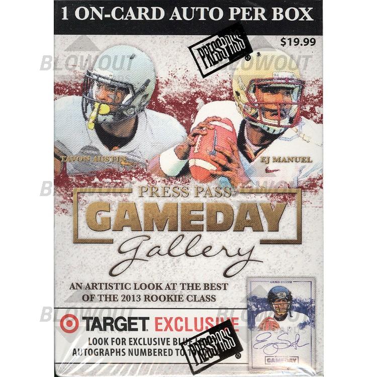 2013 Press Pass Gameday Gallery Football (Blaster Box)