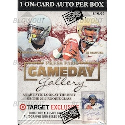 2013 Press Pass Gameday Gallery Football (Blaster Box)
