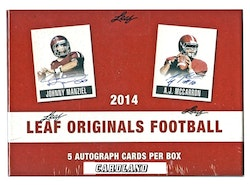 2014 Leaf Originals Football Hobby Box