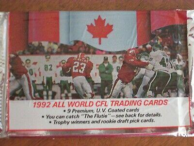 1992 All World CFL Trading Cards (Löspaket)