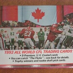 1992 All World CFL Trading Cards (Löspaket)