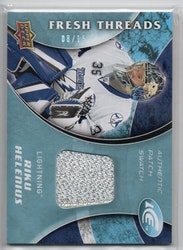 2009-10 Upper Deck Ice Fresh Threads Patches #FTRH Riku Helenius (55-CL4-SERIAL-RC-GAMEUSED-LIGHTNING)