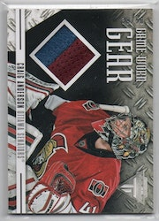 2012-13 Panini Titanium Game Worn Gear Prime #GGCA2 Craig Anderson (50-CL5-SERIAL-GAMEUSED-SENATORS)